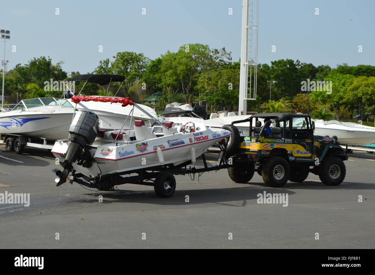 Towing Off Stock Photos Images Alamy Boat Tow Harness Sport Image