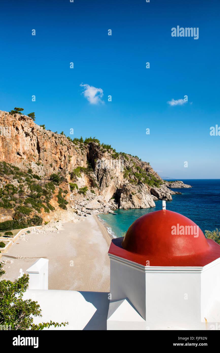 Most beautiful beaches of Greece. Kyra Panagia, Karpathos island. Stock Photo