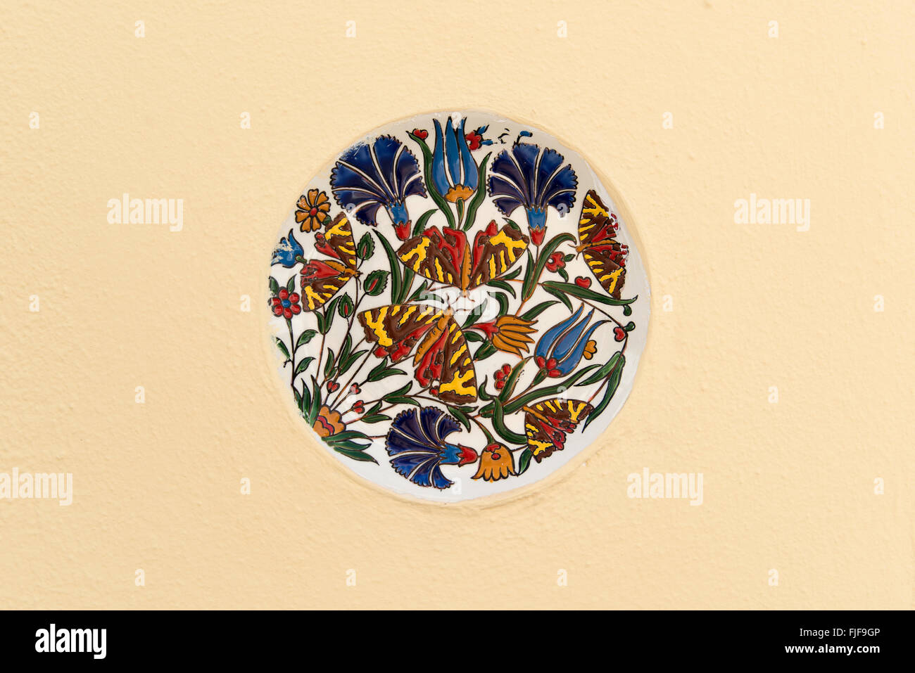 Plate Floral Ceramic Stock Photos & Plate Floral Ceramic Stock ...