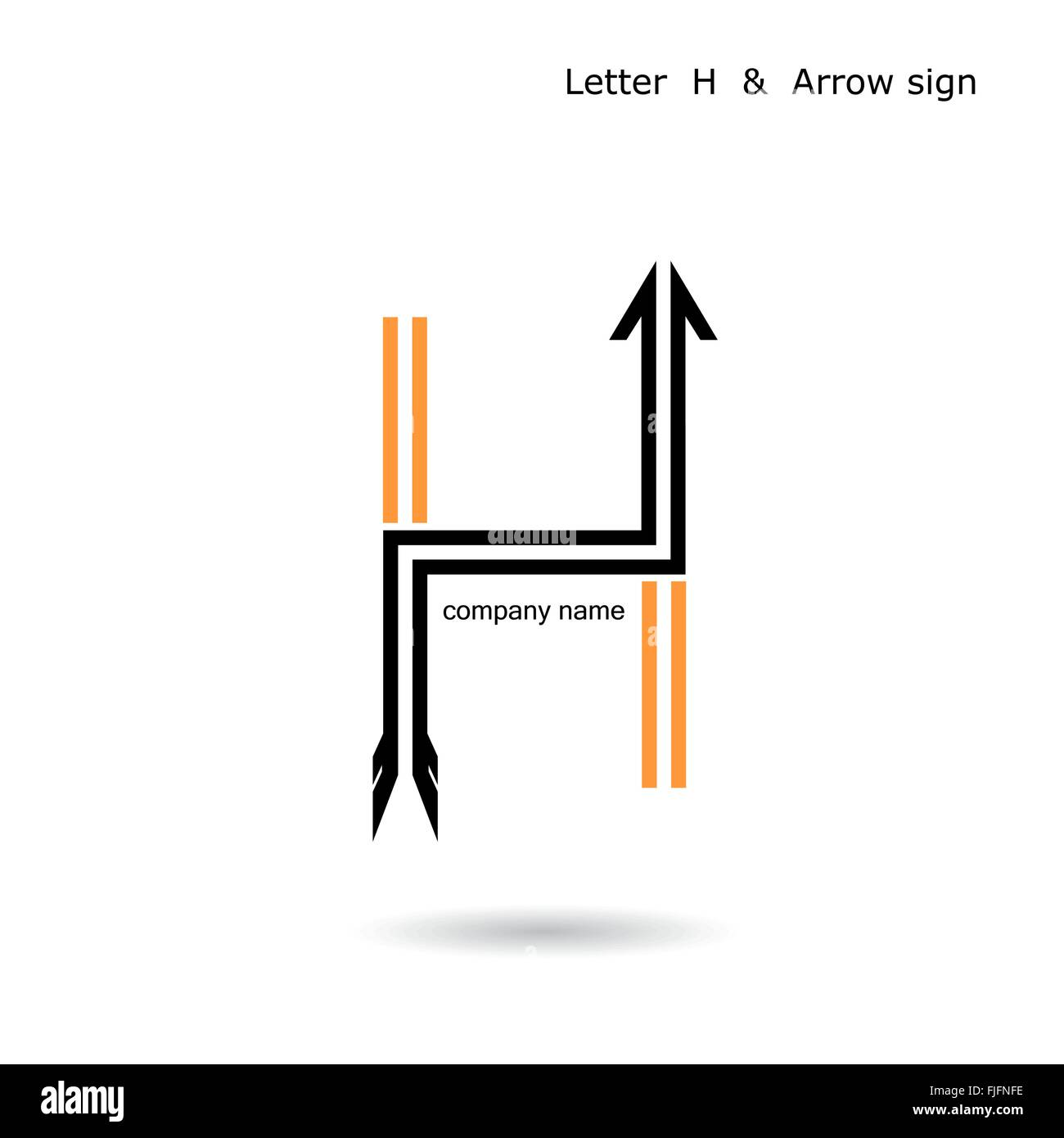 Creative Letter H Icon Abstract Logo Design Vector Template Stock