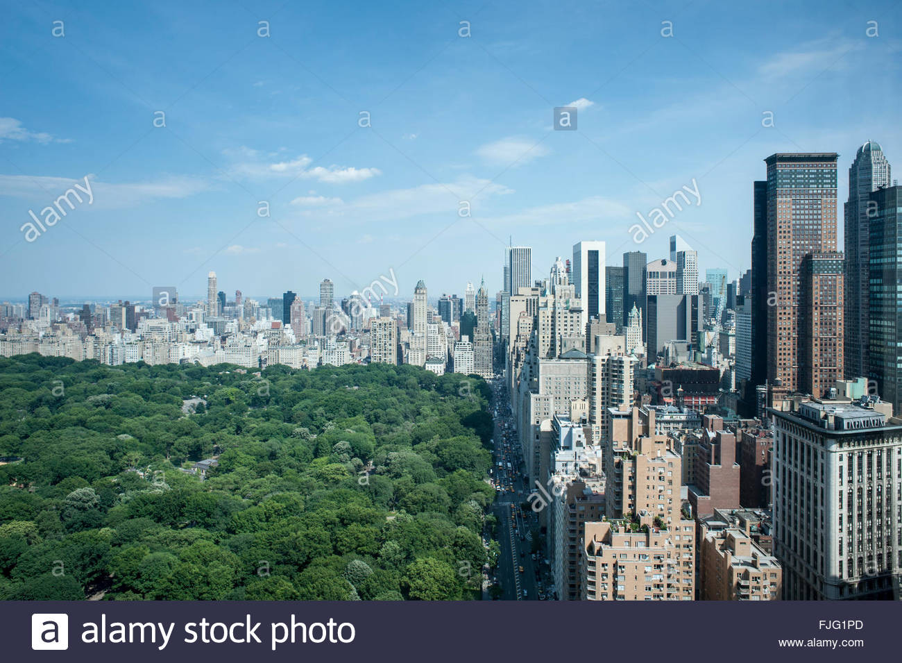 Looking Down West 59th Street New York
