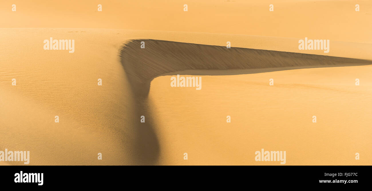 Mesquite Flat Sand Dunes, sand dunes, Death Valley, Death Valley National Park, California, USA - Stock Image