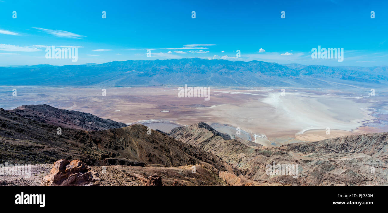 Dante's View, Death Valley National Park, mountains Panamint Range behind, Mojave Desert, California, USA - Stock Image
