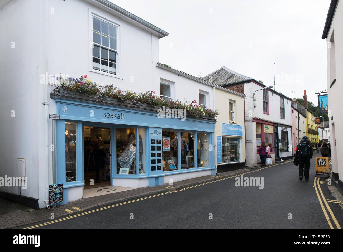 Seasalt clothes shop in Padstow, Cornwall, UK. - Stock Image