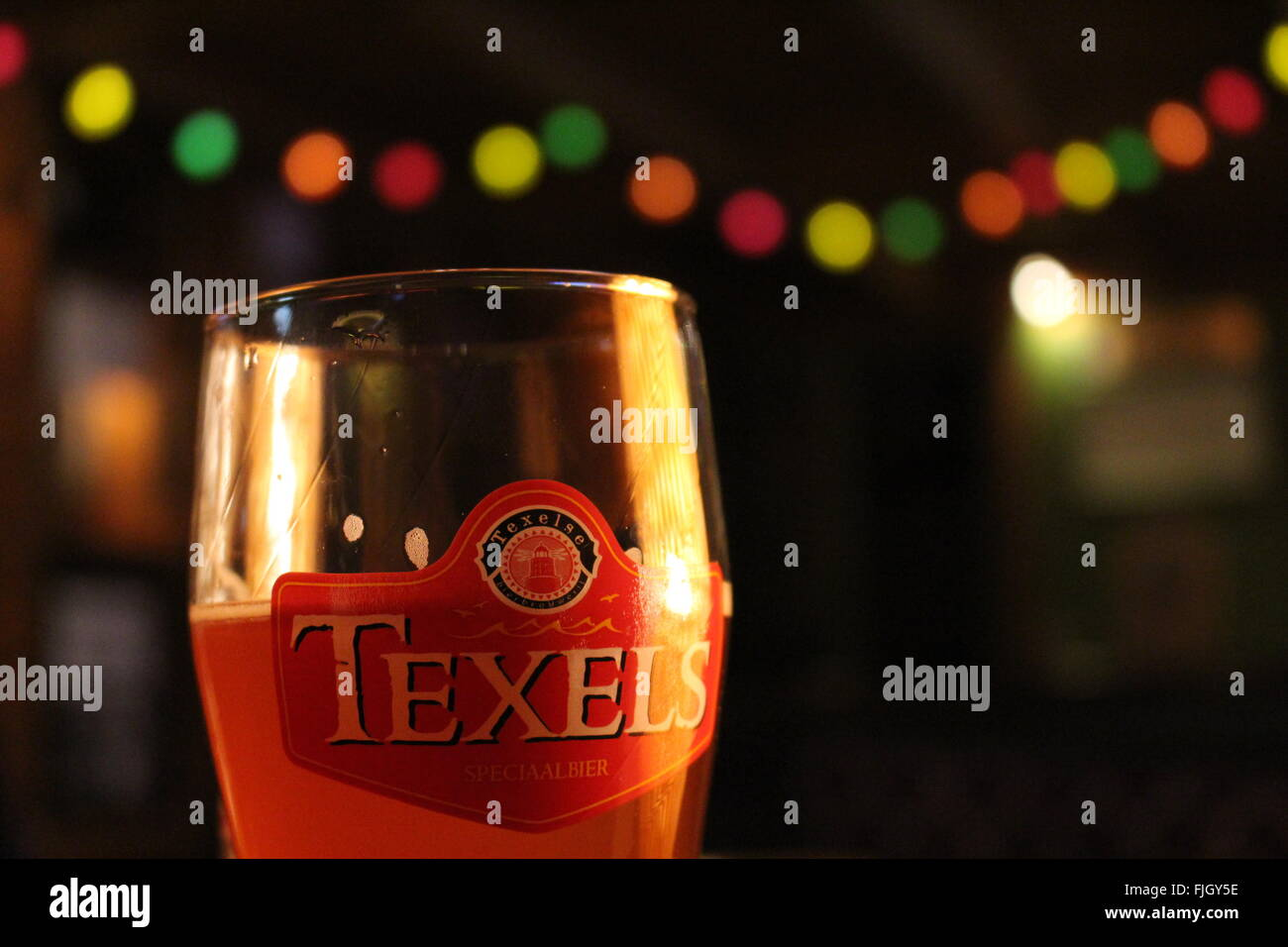 Beer in pub - Stock Image