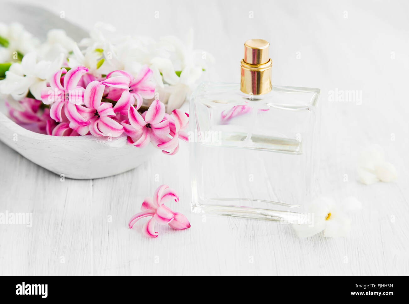 White and pink hyacinth flowers with perfume bottlespring flowers white and pink hyacinth flowers with perfume bottlespring flowers perfume mightylinksfo
