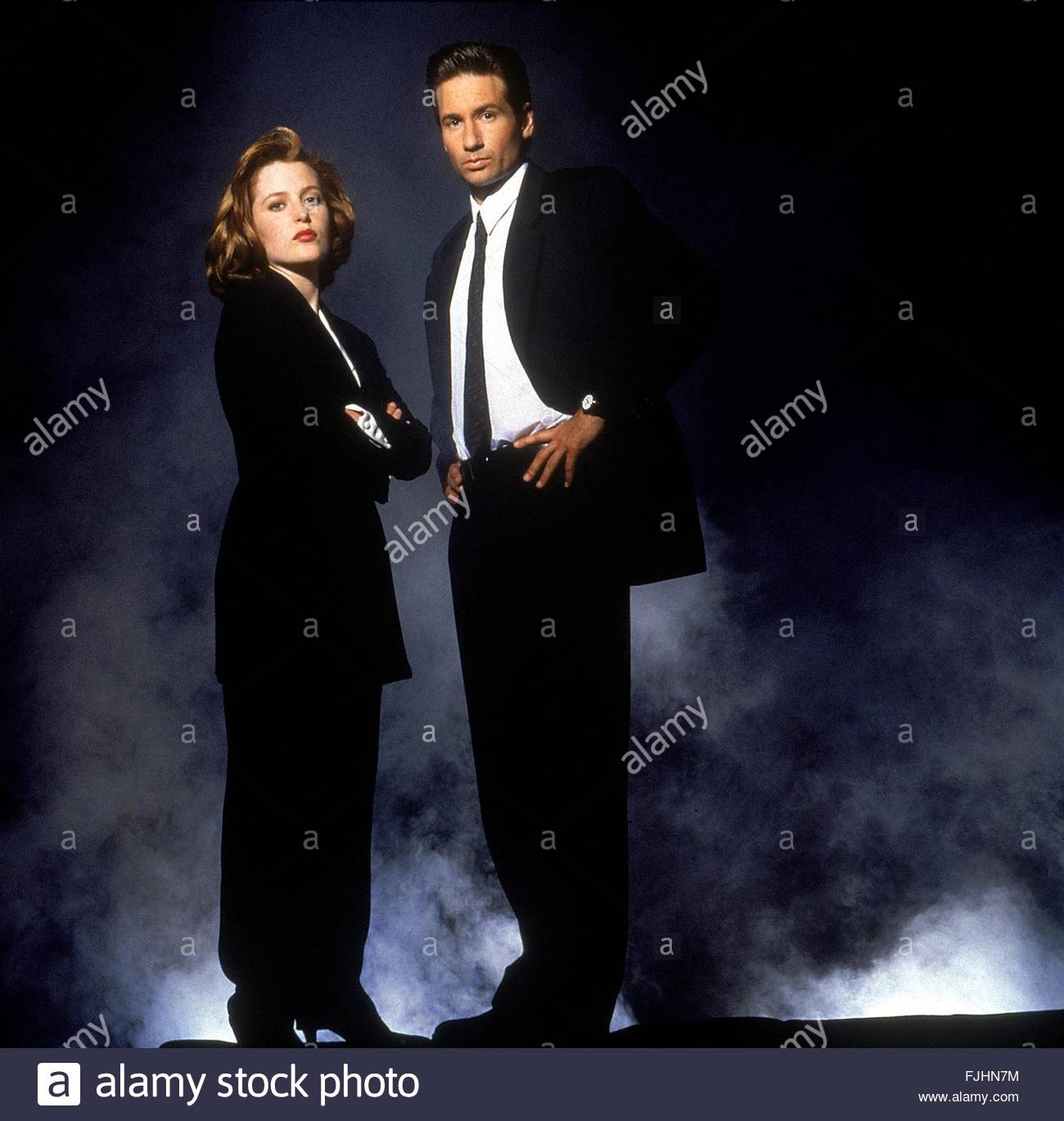 GILLIAN ANDERSON & DAVID DUCHOVNY THE X FILES (1993) - Stock Image