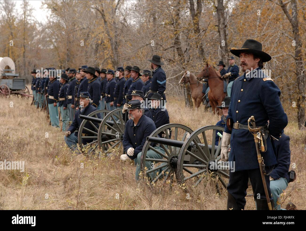 ARMY SCENE BURY MY HEART AT WOUNDED KNEE (2007) - Stock Image