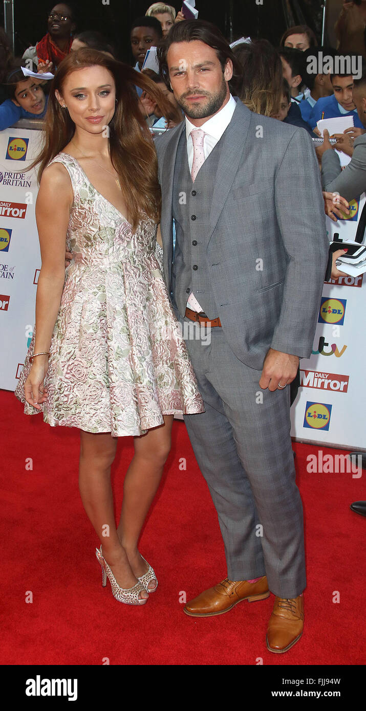 September 28, 2015 - Ben Foden and Una Healy attending The Pride of Britain Awards 2015 at Grosvenor House Hotel - Stock Image