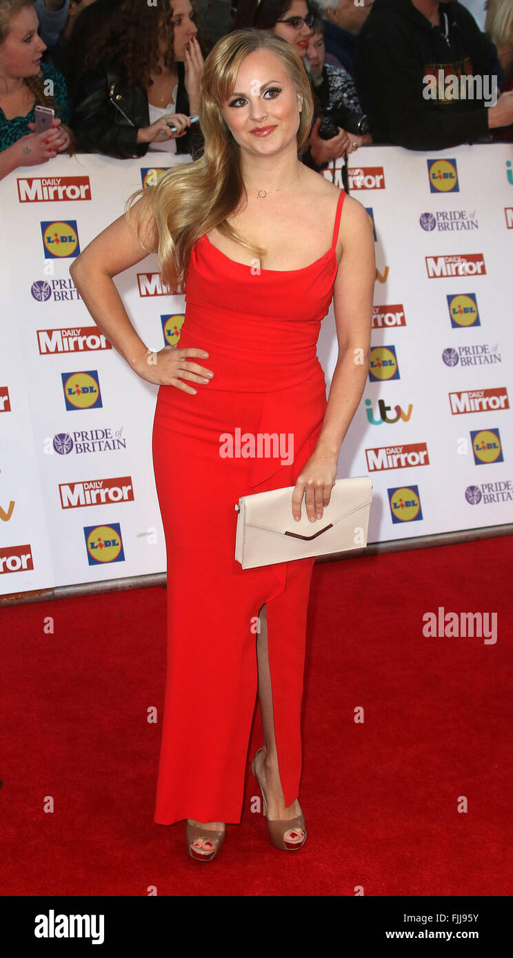 September 28, 2015 - Tina O'Brien attending The Pride of Britain Awards 2015 at Grosvenor House Hotel in London, - Stock Image