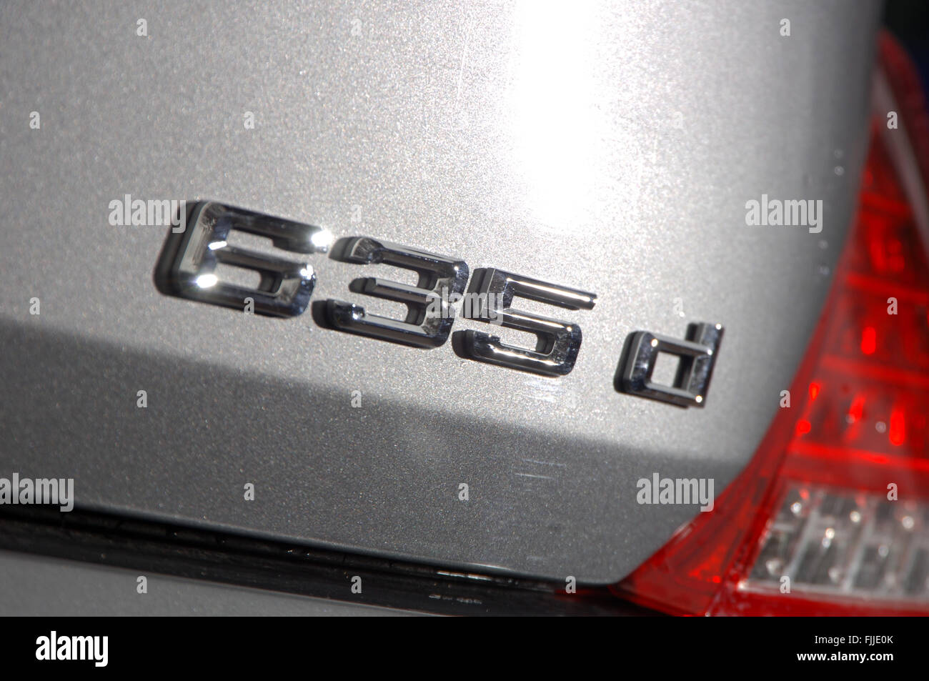 2007 BMW 635d performance diesel convertible soft top car - Stock Image