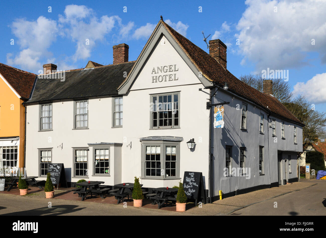 The Angel Hotel Hotel, Lavenham, Suffolk, England, UK. - Stock Image