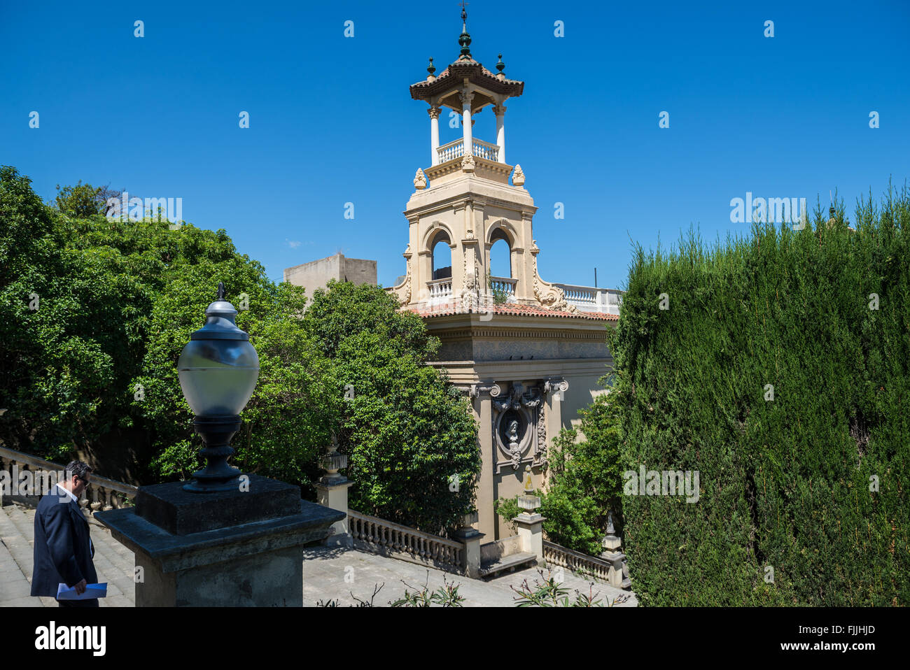 Victoria Eugenia Palace in Barcelona, Spain Stock Photo
