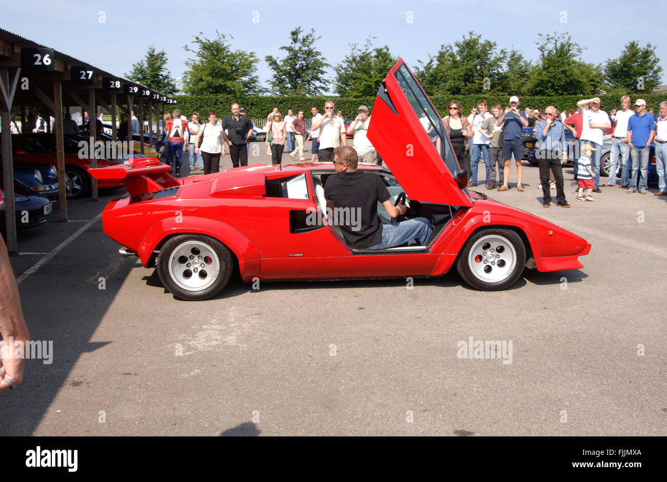 Lamborghini Countach Reverse Parking With The Door Open So The Driver Stock Photo 97527202 Alamy