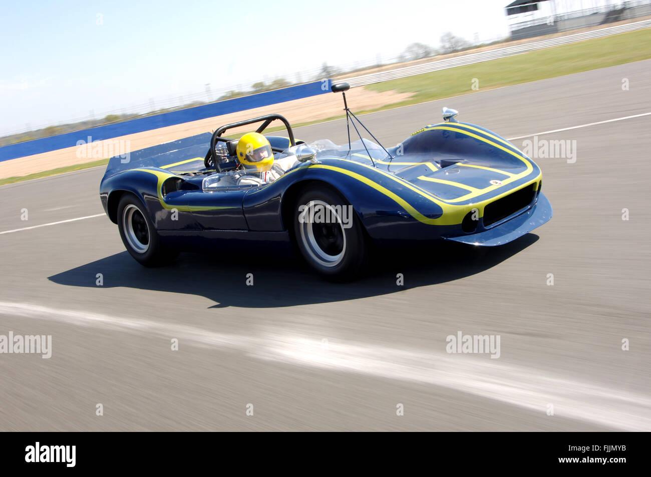 McLaren M1 historic racing car - Stock Image