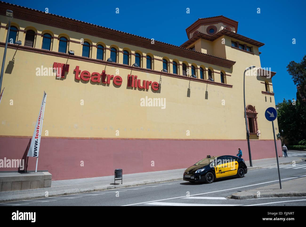 Teatre Lliure in Barcelona, Spain - Stock Image