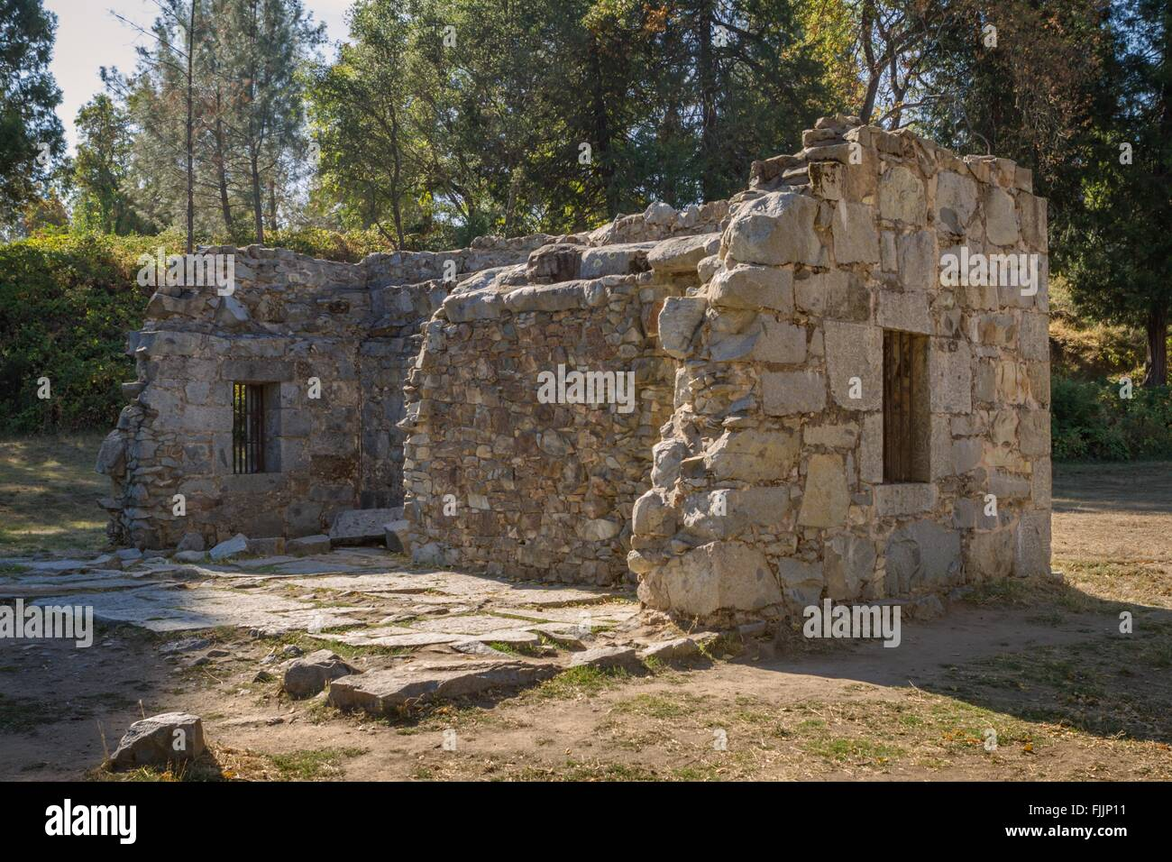 Jail ruin, Marshall Gold Discovery State Historic Park, Coloma, California. - Stock Image