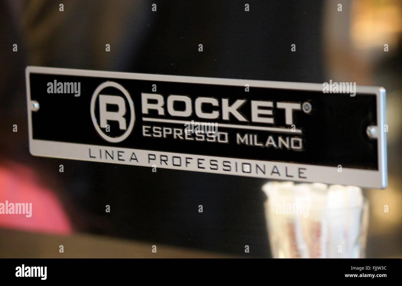 Markenname: 'Rocket Espresso Milano', Berlin. - Stock Image