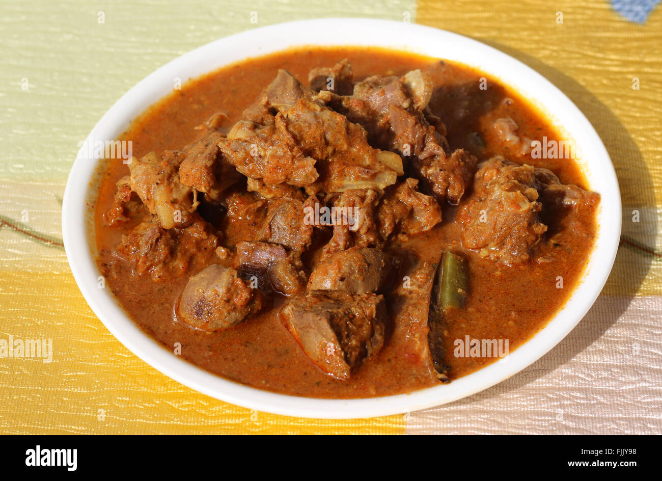 Indian style mutton curry - Stock Image
