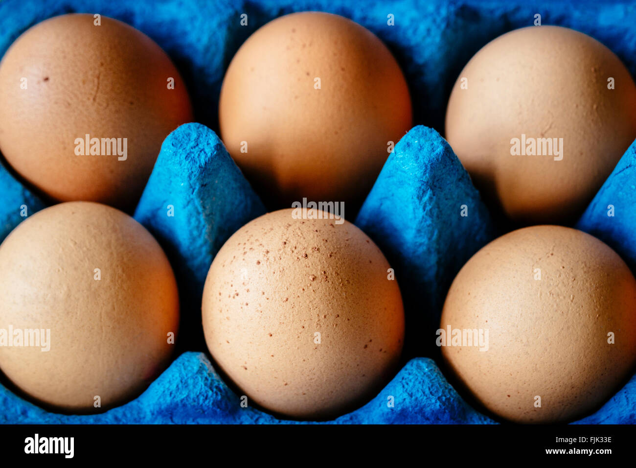 Brown hens eggs Stock Photo