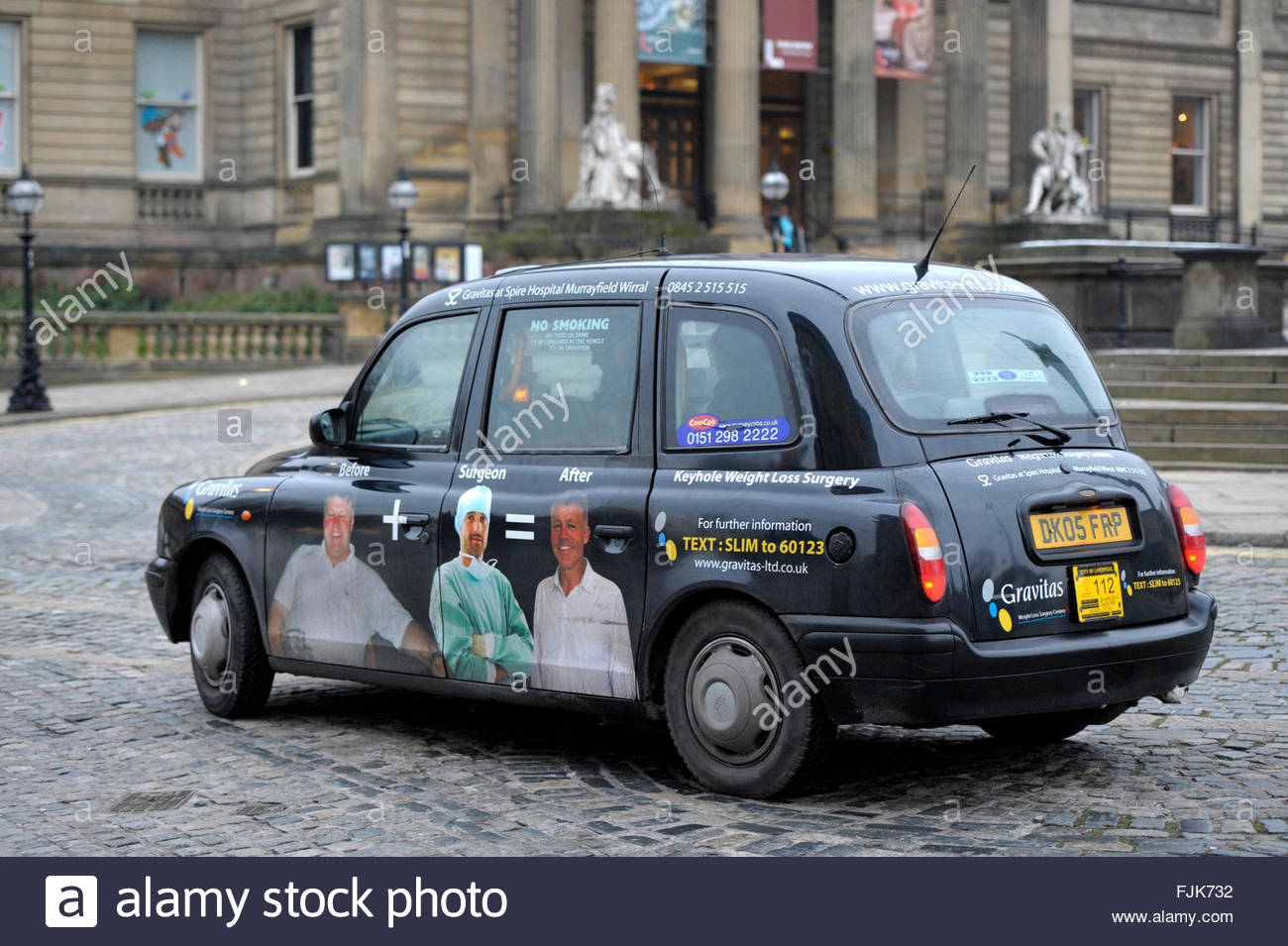 Liverpool Hackney Cab Taxi - Stock Image