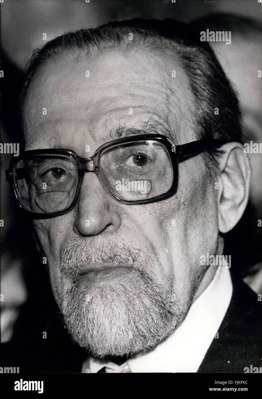 1973 - Mr. Jacob Kaplan, Grand Rabbin de France. (Credit Image: © Keystone Pictures USA/ZUMAPRESS.com) Stock Photo