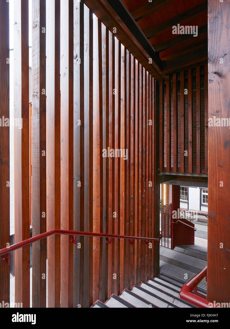stairway with timber slat cladding the haven killarney ireland