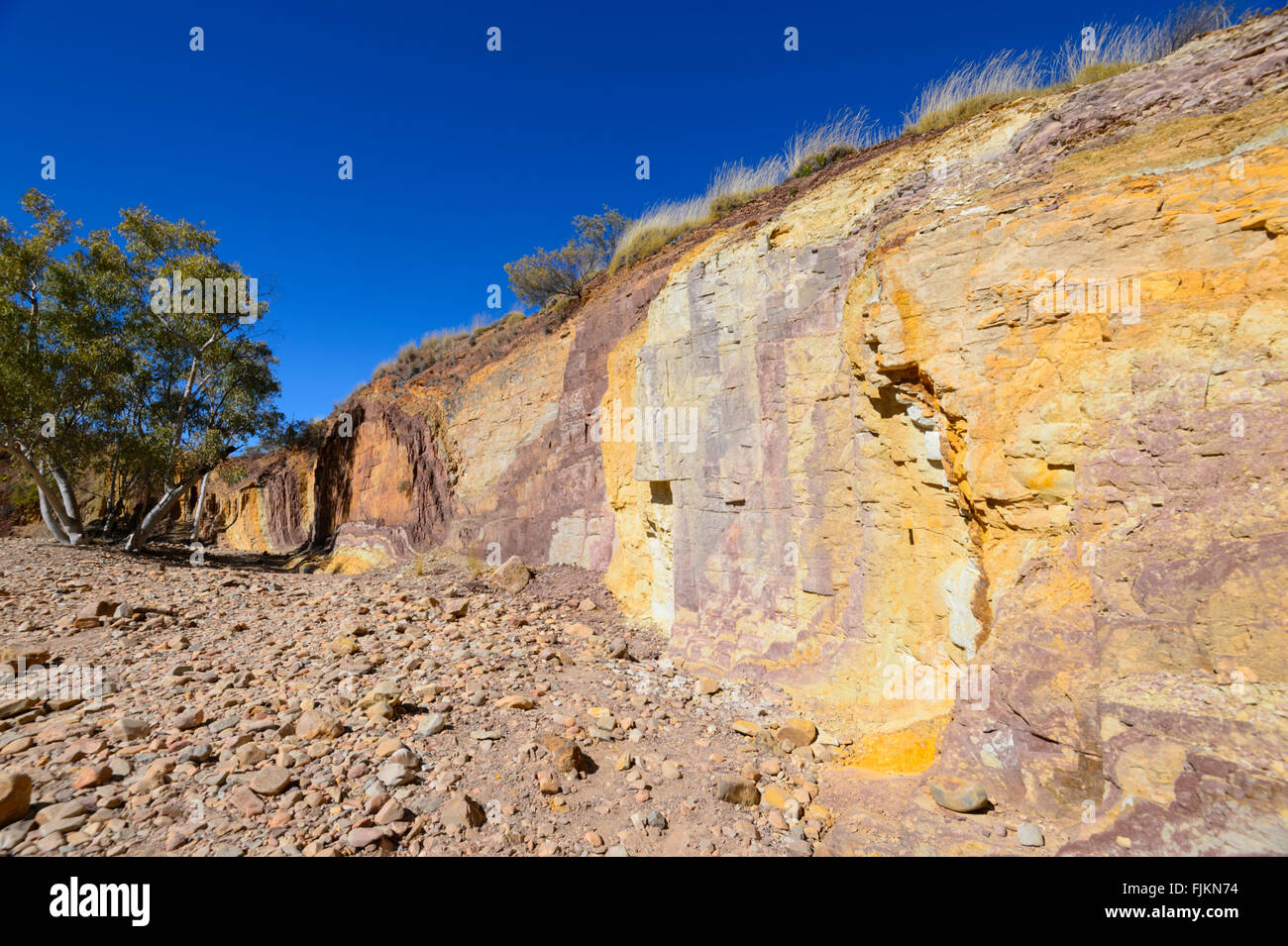 Ochre Pits, West MacDonnell Ranges, Northern Territory, Australia - Stock Image