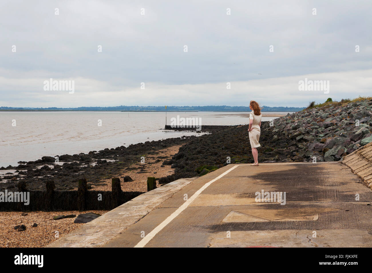 Estuary of the River Colne at Brightlingsea, Essex - Stock Image