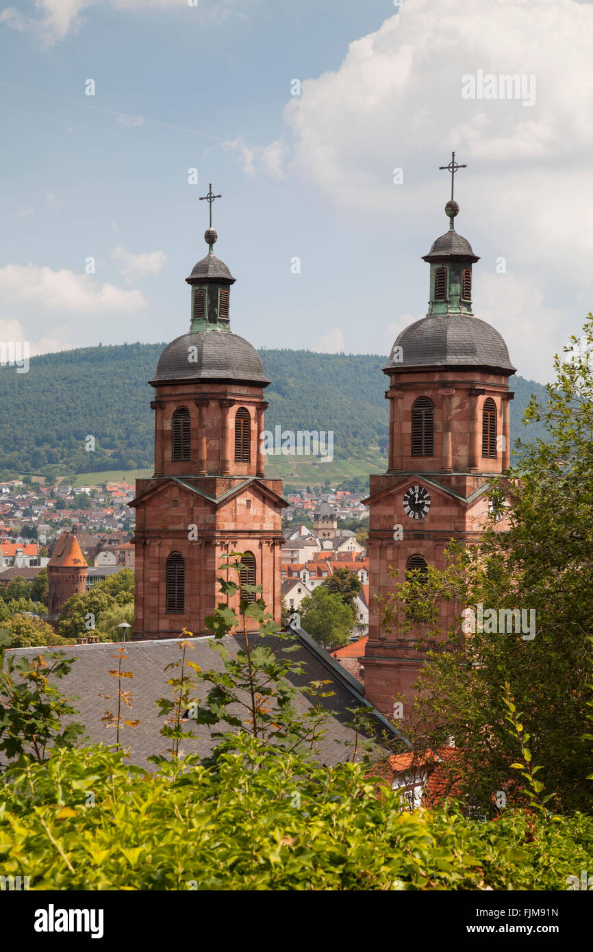 geography / travel, Germany, Bavaria, Miltenberg, churches, St. James parish church, exterior view, Additional-Rights - Stock Image