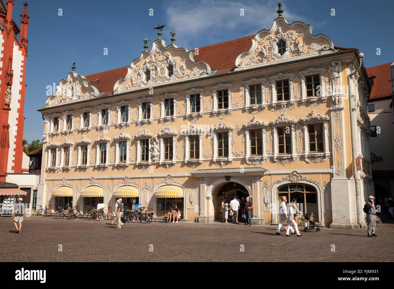 geography / travel, Germany, Bavaria, Würzburg, building, Falcon house with the tourist information, exterior - Stock Image