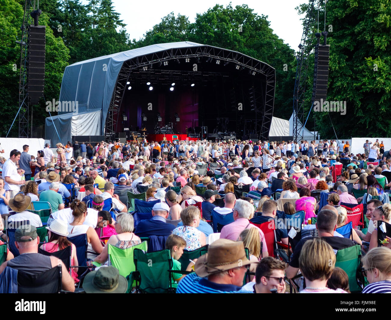 Open air concert at Thetford Forest - Stock Image
