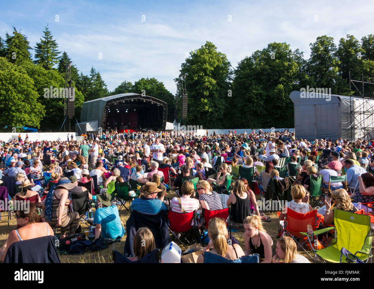 Thetford Forest Concert - Stock Image