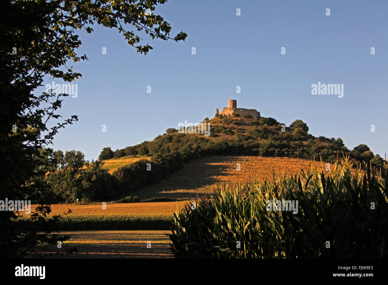 geography / travel, Germany, North Rhine-Westphalia, Warburg, castles, Desenberg castle, exterior view, Additional - Stock Image