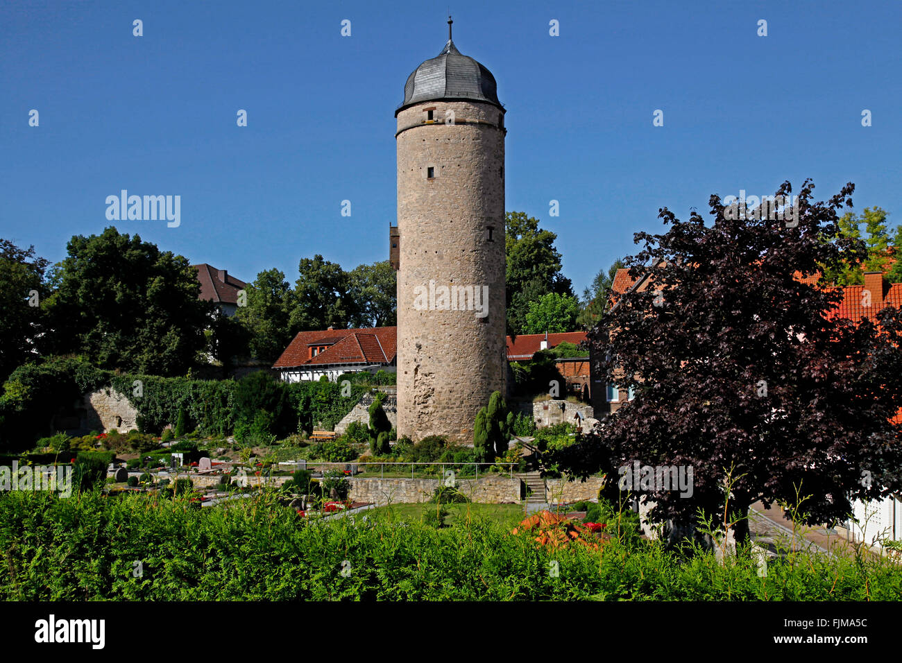 geography / travel, Germany, North Rhine-Westphalia, Warburg, buildings, Sackturm, built circa 1443, exterior view, - Stock Image