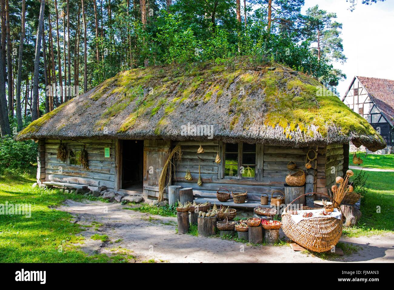 geography / travel, Latvia, Riga, ethnographic open-air museum, Additional-Rights-Clearance-Info-Not-Available - Stock Image
