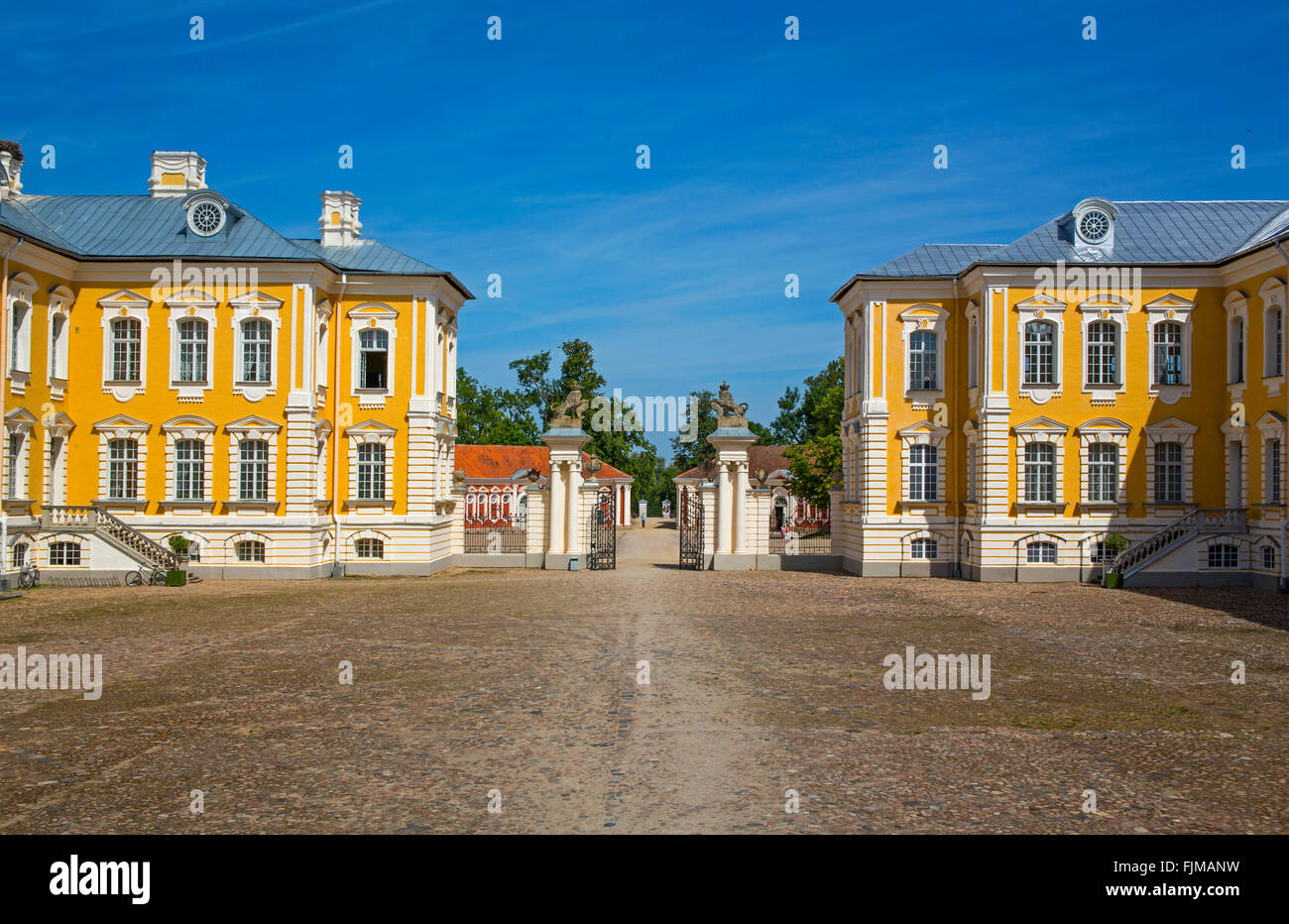 geography / travel, Latvia, Bauska, Rundale Castle, Additional-Rights-Clearance-Info-Not-Available - Stock Image