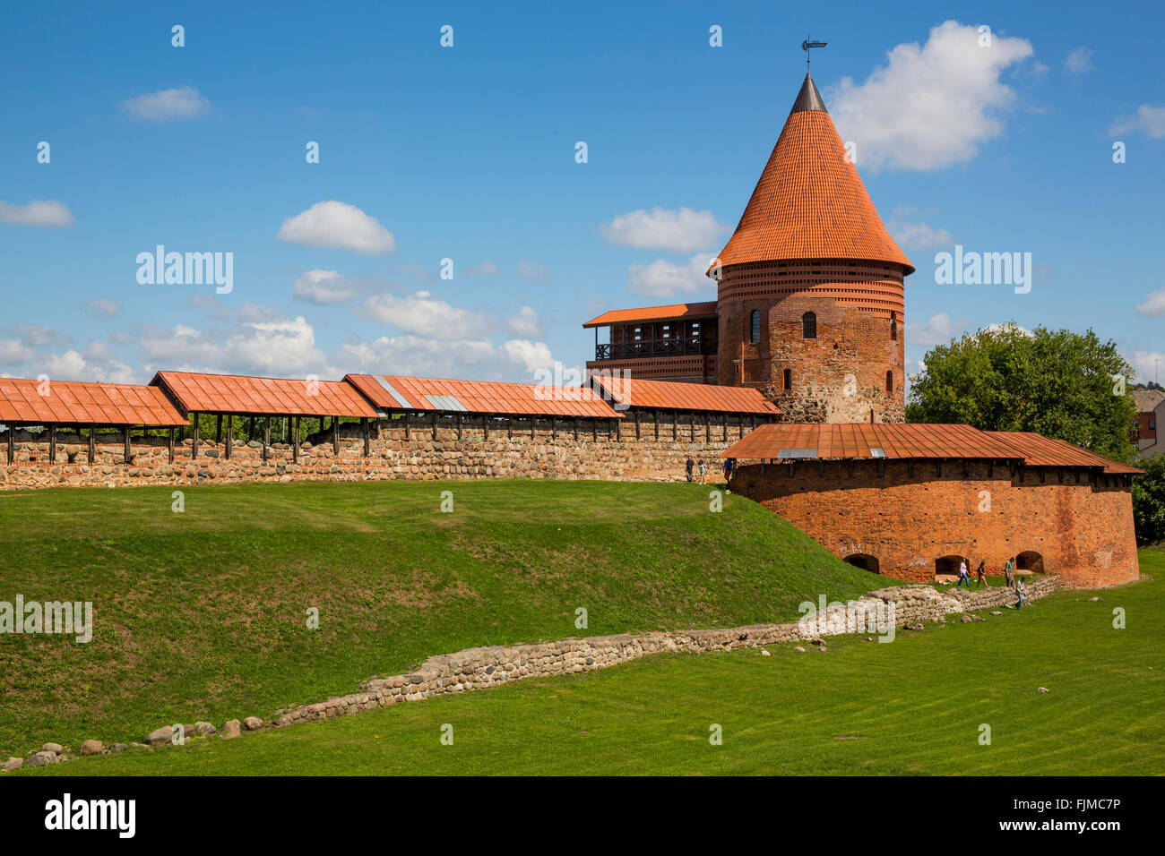 geography / travel, Lithuania, Kaunas, castle, Kauno pilis, Additional-Rights-Clearance-Info-Not-Available - Stock Image