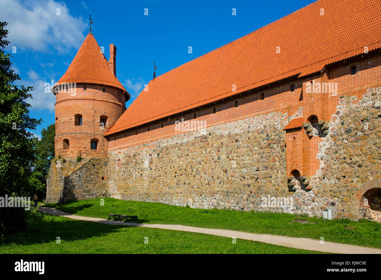 geography / travel, Lithuania, Trakai, Trakai Castle, Additional-Rights-Clearance-Info-Not-Available - Stock Image