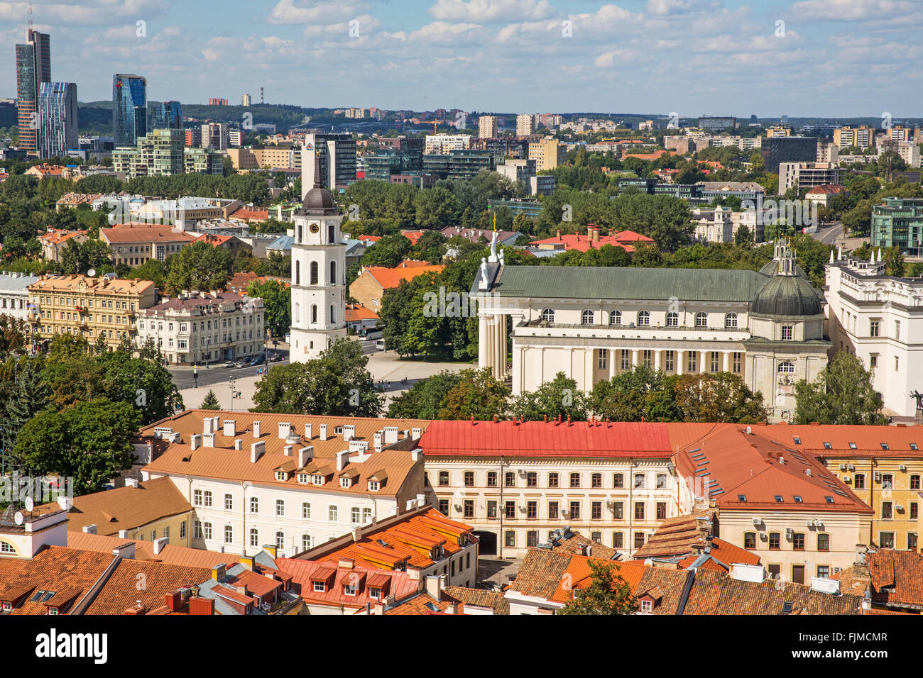 geography / travel, Lithuania, Vilnius, view towards the Arkikatedra Bazilika cathedral, Additional-Rights-Clearance - Stock Image