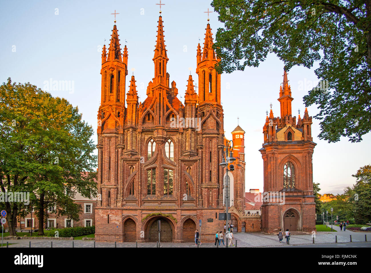 geography / travel, Lithuania, Vilnius, Church of St. Ann, Gothic quarter, Additional-Rights-Clearance-Info-Not - Stock Image