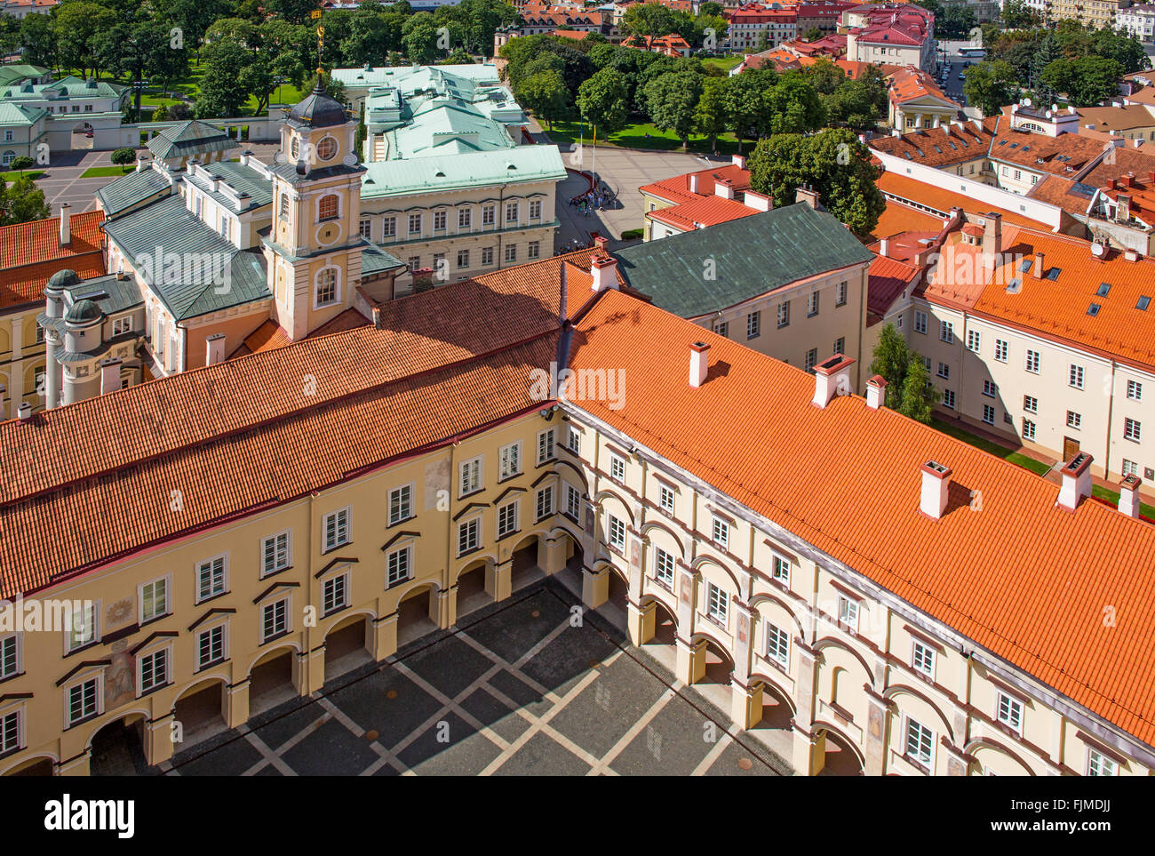 geography / travel, Lithuania, Vilnius, view from the Church of St. John onto the university, Sarkos Court, Additional - Stock Image