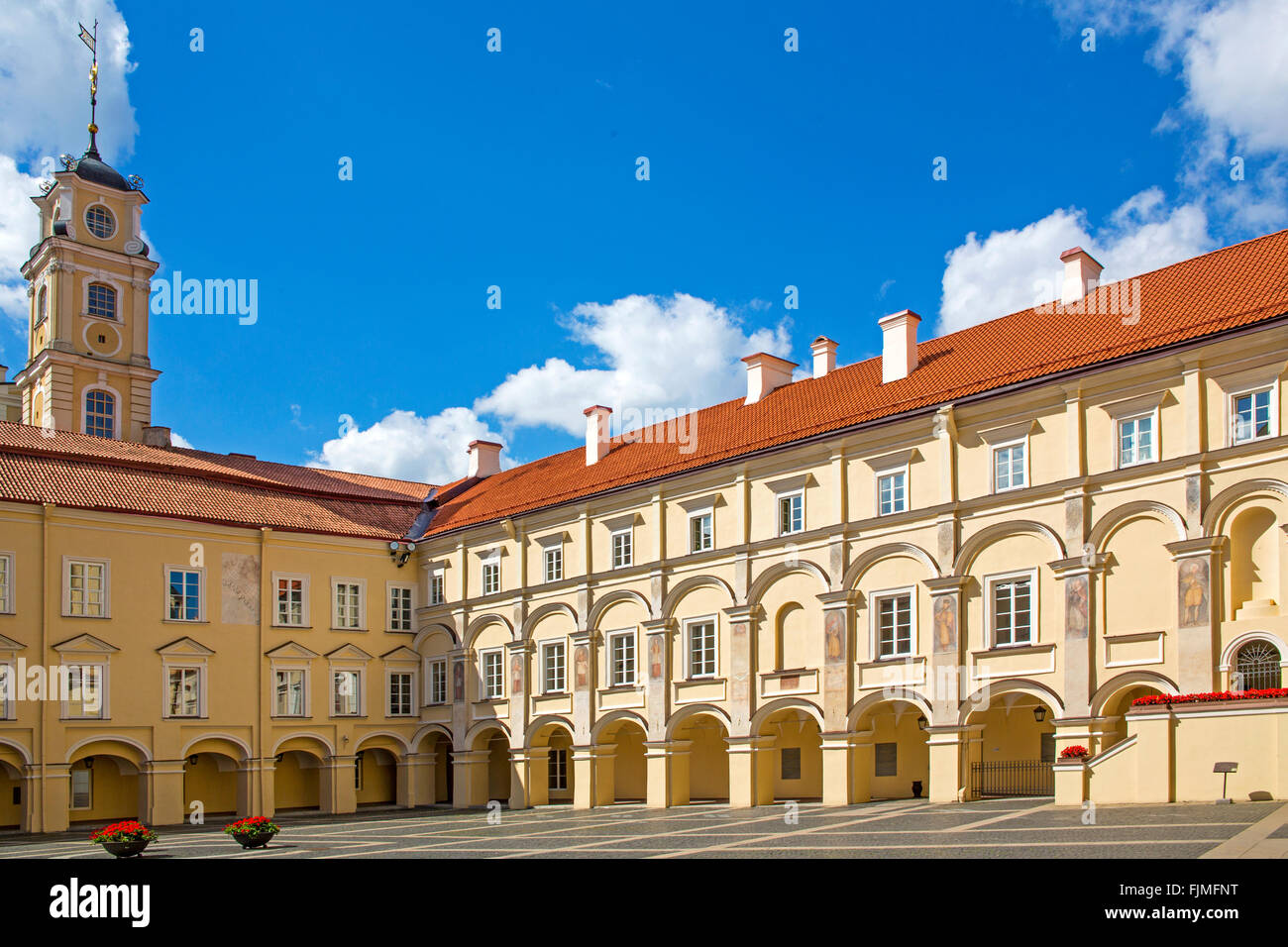 geography / travel, Lithuania, Vilnius, university, Sarkos Court, Additional-Rights-Clearance-Info-Not-Available - Stock Image