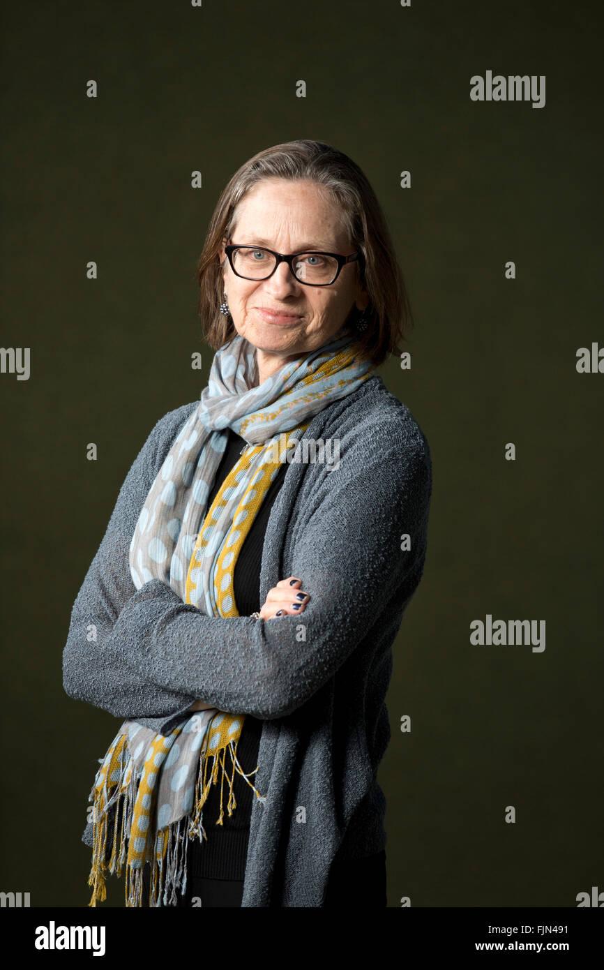 World-renowned American short-story writer Lydia Davis, pictured at the Edinburgh International Book Festival where - Stock Image