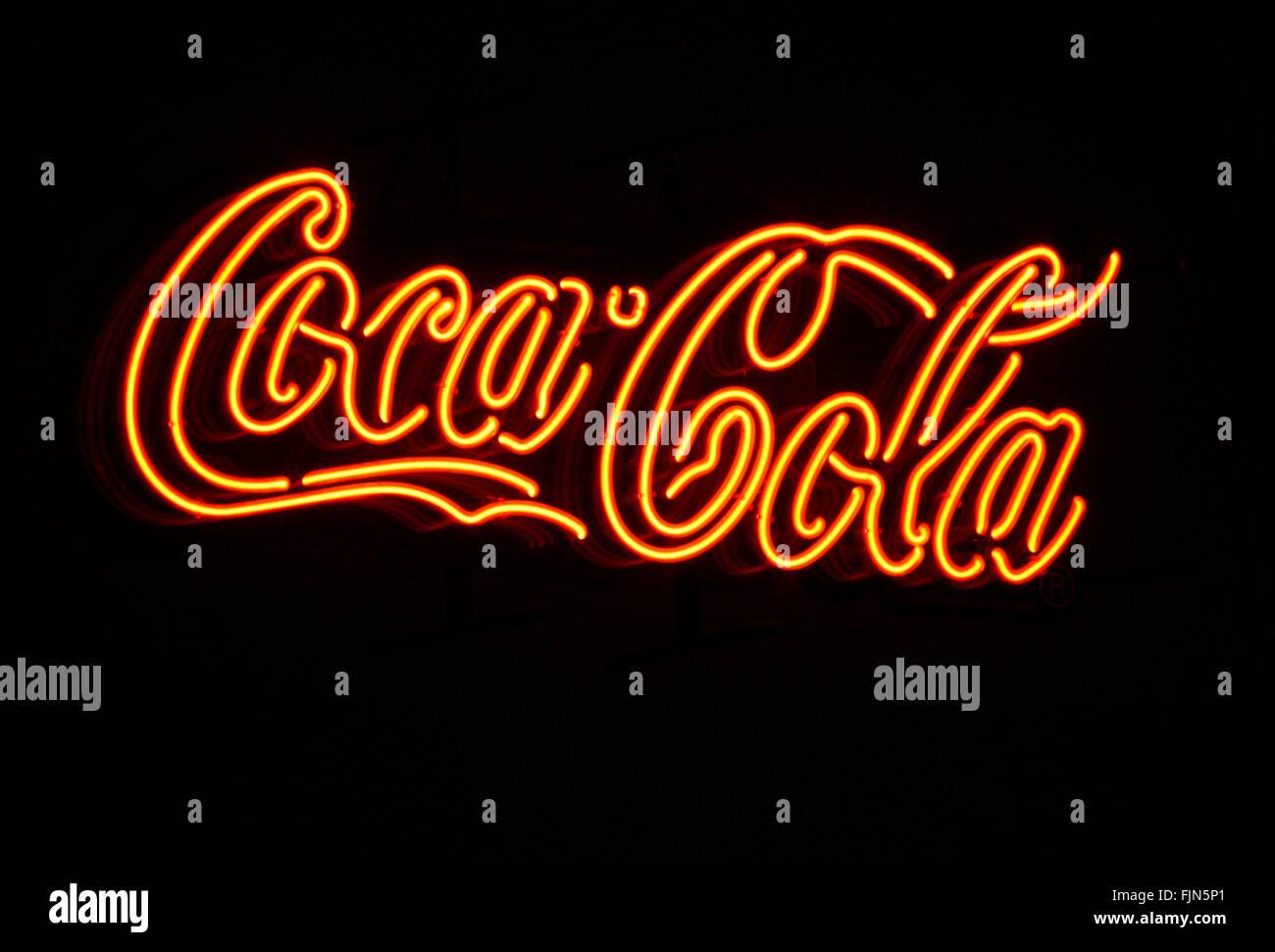 Markenname: 'Coca Cola', Berlin. - Stock Image