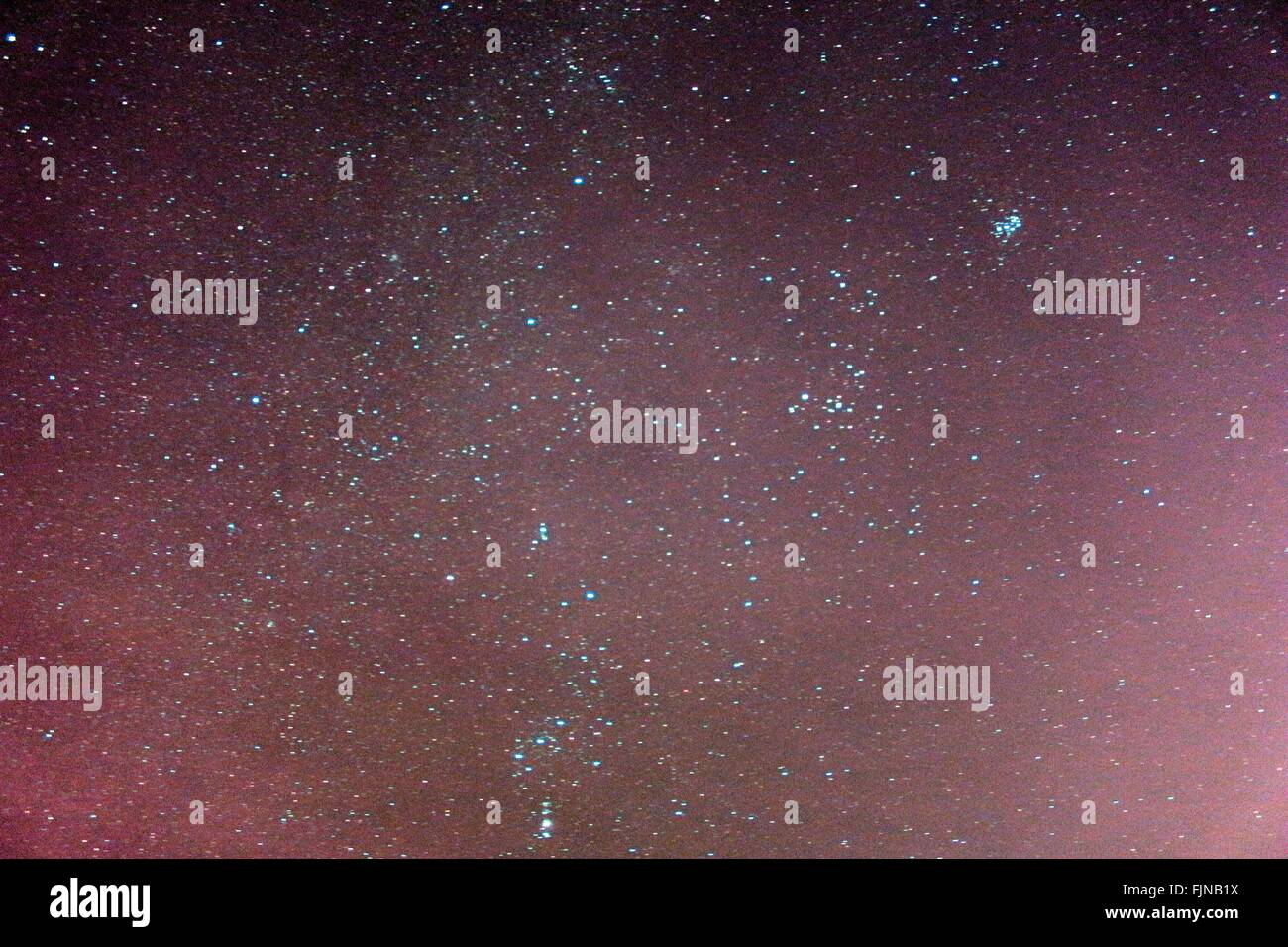 Stars In The Sky At Night - Stock Image
