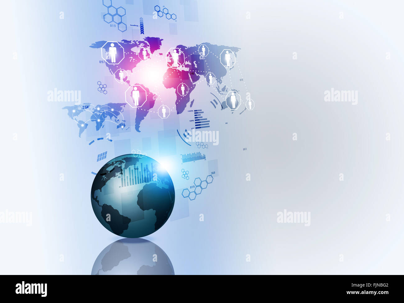 network concept web global connections technology background - Stock Image