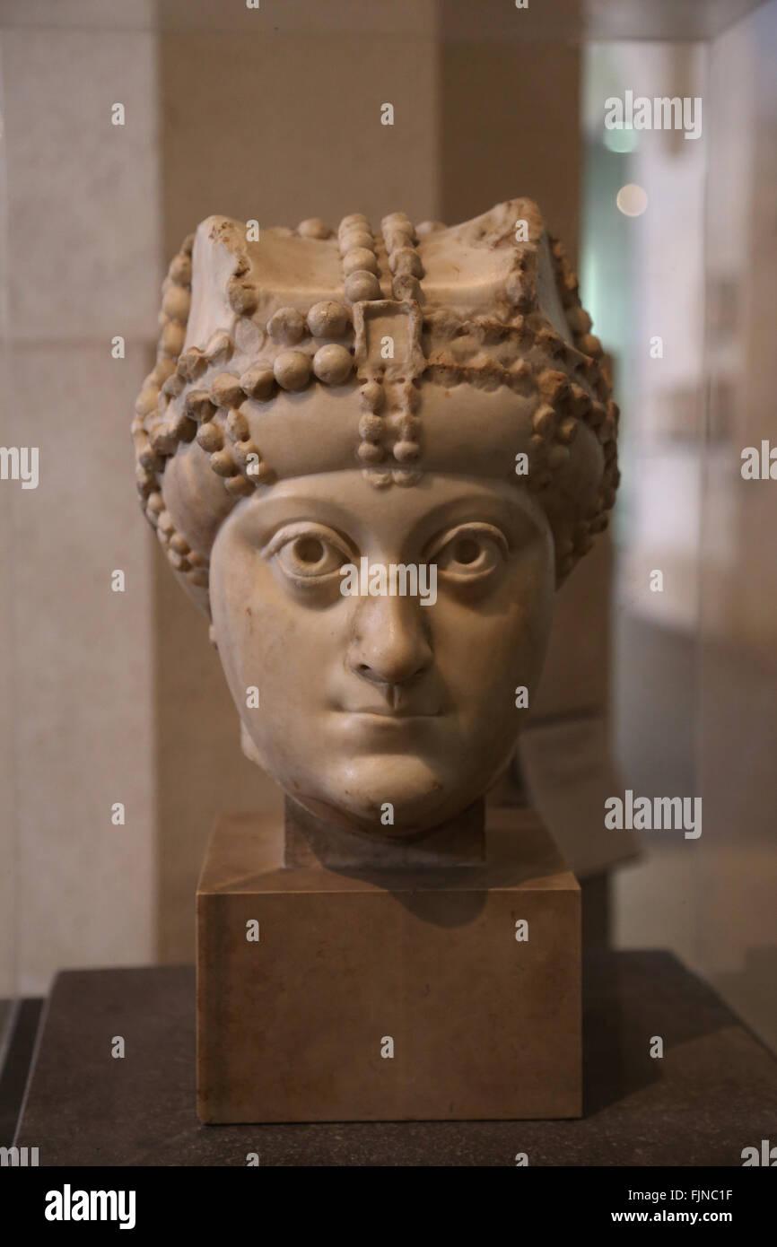 Aelia Ariadne (474-515). Empress consort of Zero (emperor) and Anastasius I (emperor). From Constantinople or Rome. Stock Photo