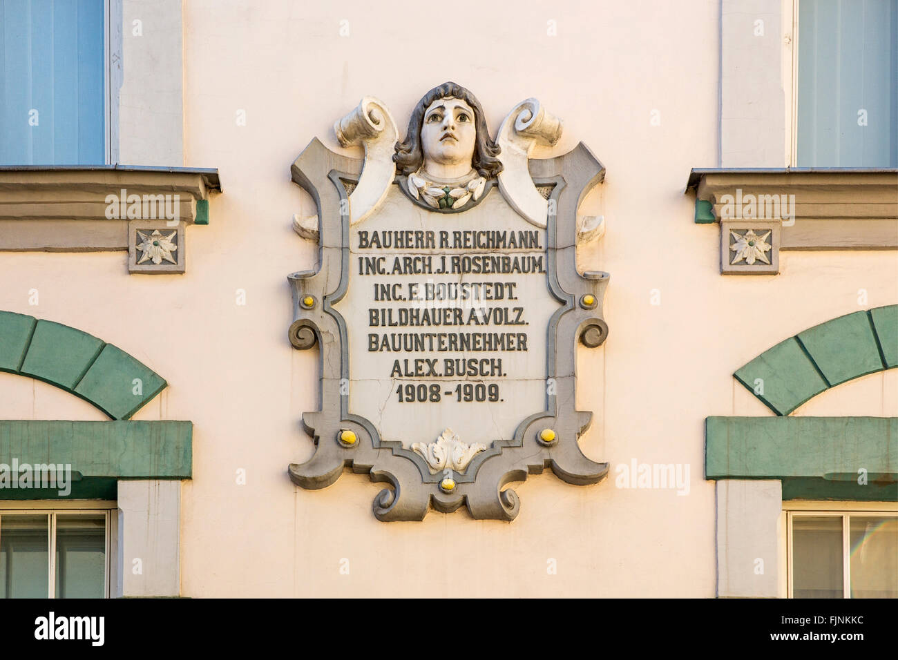 geography / travel, Estonia, Tallinn, Facade detail of the Baltic German period, Additional-Rights-Clearance-Info - Stock Image