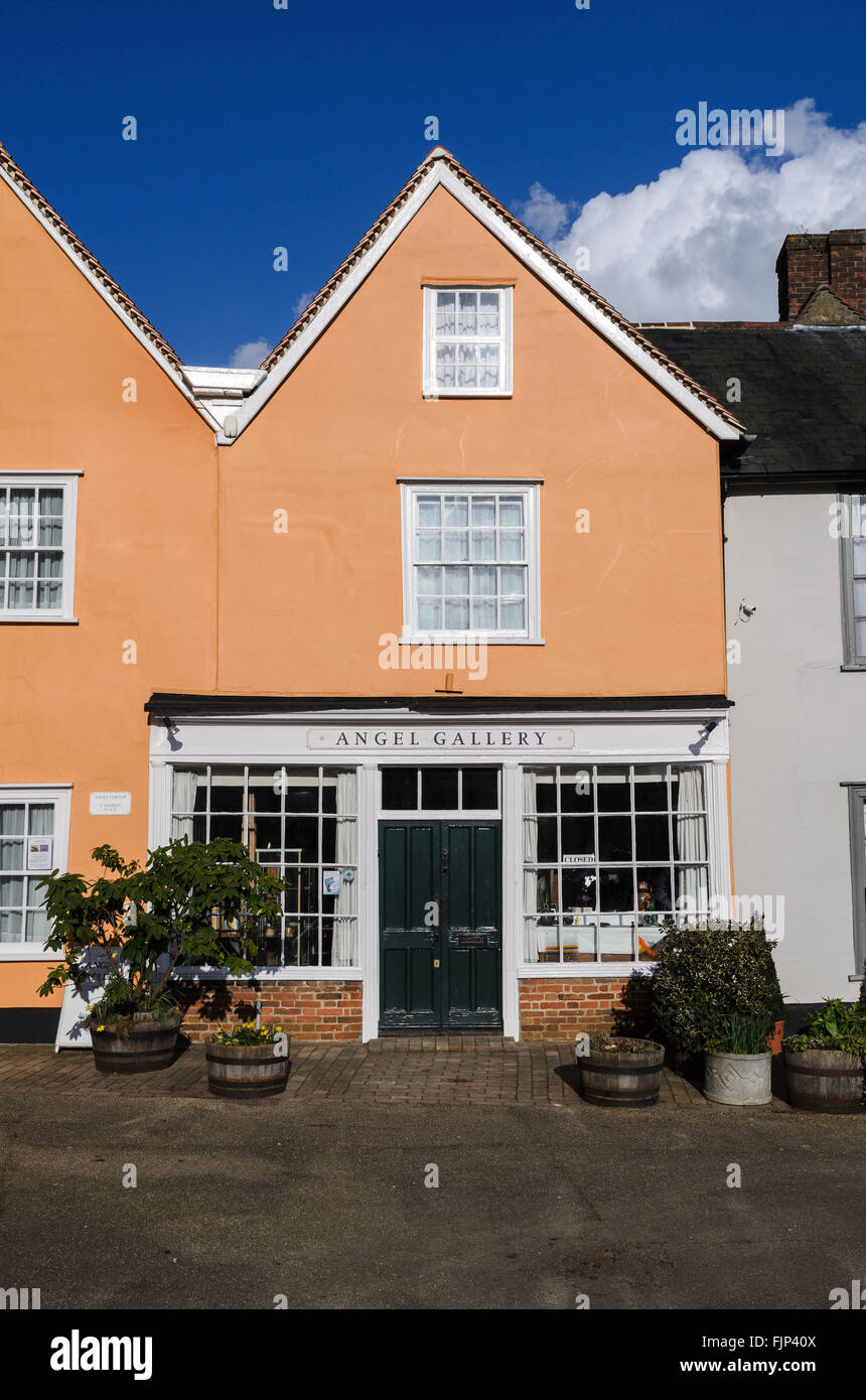 The Angel Gallery, Lavenham, Suffolk, England, UK. - Stock Image